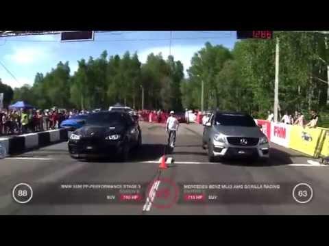 BMW X6 M vs   Mercedes ML63 AMG