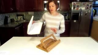 Hala Flip Bamboo Cookbook Holder By M26studio