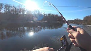 СНАЧАЛА СУДАКИ ОДИН ЗА ДРУГИМ, ПОТОМ ЗАБАГРИЛ КАРПА!!! Рыбалка на спиннинг в январе. Рыбалка 2020