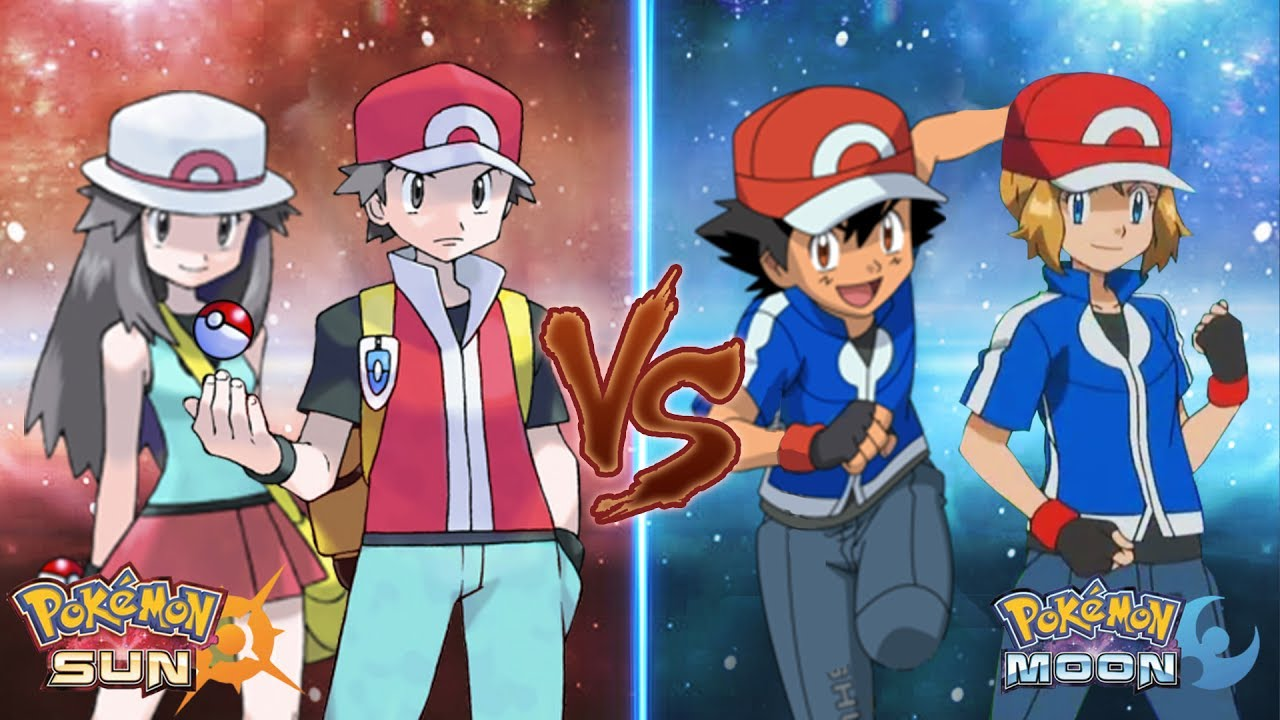 red vs blue sun and moon - photo #27