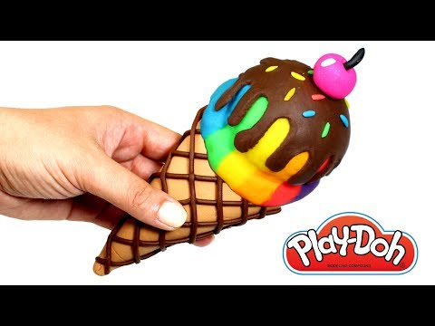 Thumbnail: How to Make Rainbow Ice Cream Cone Learn Colors Play Doh for Kids Elsa Play Doh Hairstyle Makeover
