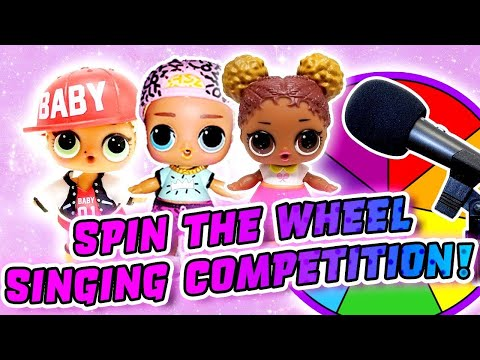 LOL Surprise Dolls Aladdin Spin the Wheel Singing Competition w/ MC Swag!   LOL Dolls Families