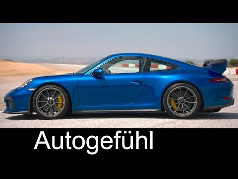 New Porsche 911 GT3 Preview Sound, Racetrack, Drifting, Exterior/Interior neu 2017