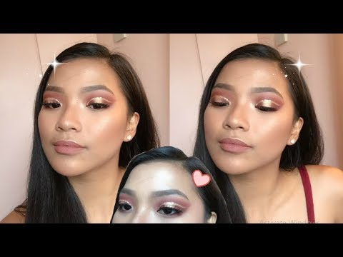 berry cut crease  full face makeup tutorial philippines