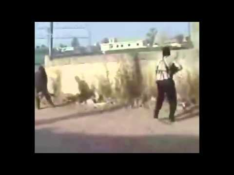 Rare footage of attack on U S  base in Iraq