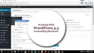 How To Work with WordPress 4.3 Formatting Shortcuts ?
