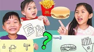 畫什麼就買什麼挑戰!逛街買東西~ 麥當勞 衣服裙子u0026玩具 親子互動遊戲~ Whatever You Draw, I'll Buy It Challenge!From Jo Channel~