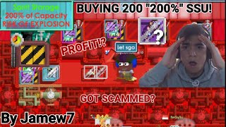 "Buying 200 ""200%"" SSU! FOR 1BGL! PROFIT!? (GOT SCAMMED?) OMG!! 