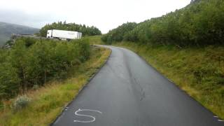 Norway old road E134 Austmanli at Haukeli  with Scania R560 V8  20120910_153937.mp4