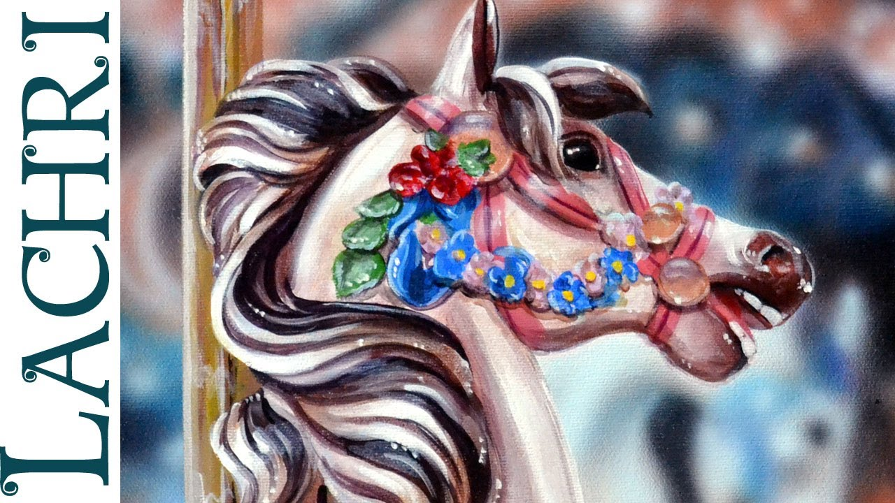 Speed Painting Carousel Horse In Acrylic And Airbrush