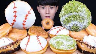 크리스피크림도넛 베이스볼 도넛 디저트 먹방ASMR MU…