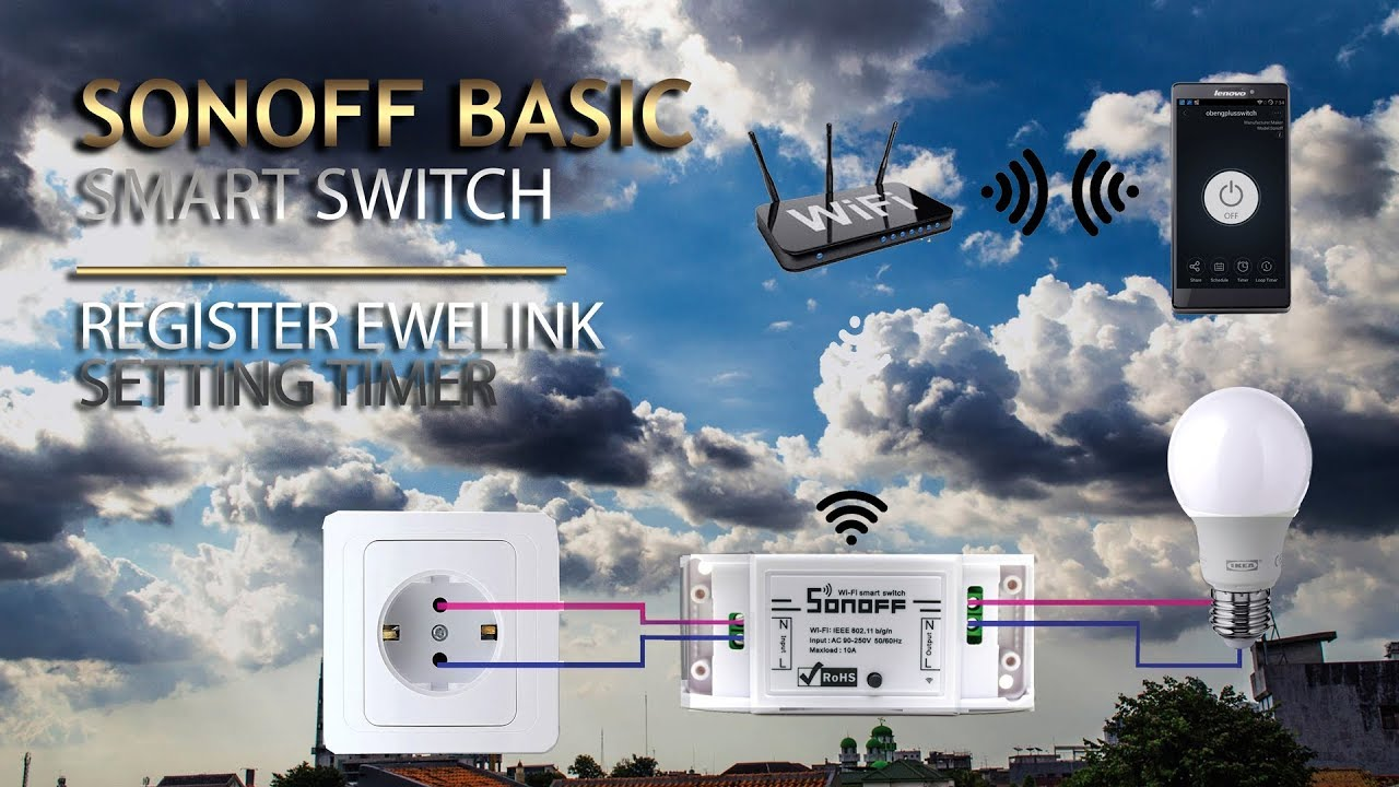 Setting Sonoff Smart Switch and Timer how it work
