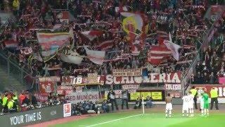 Bayer 04 Leverkusen - Bayern München 6.2.2016 Support der Bayern im Gästeblock