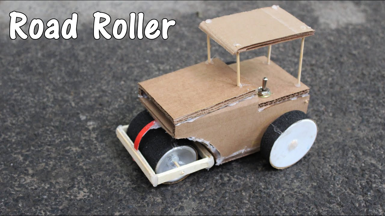 how to make battery operated road roller its fun diy youtube. Black Bedroom Furniture Sets. Home Design Ideas