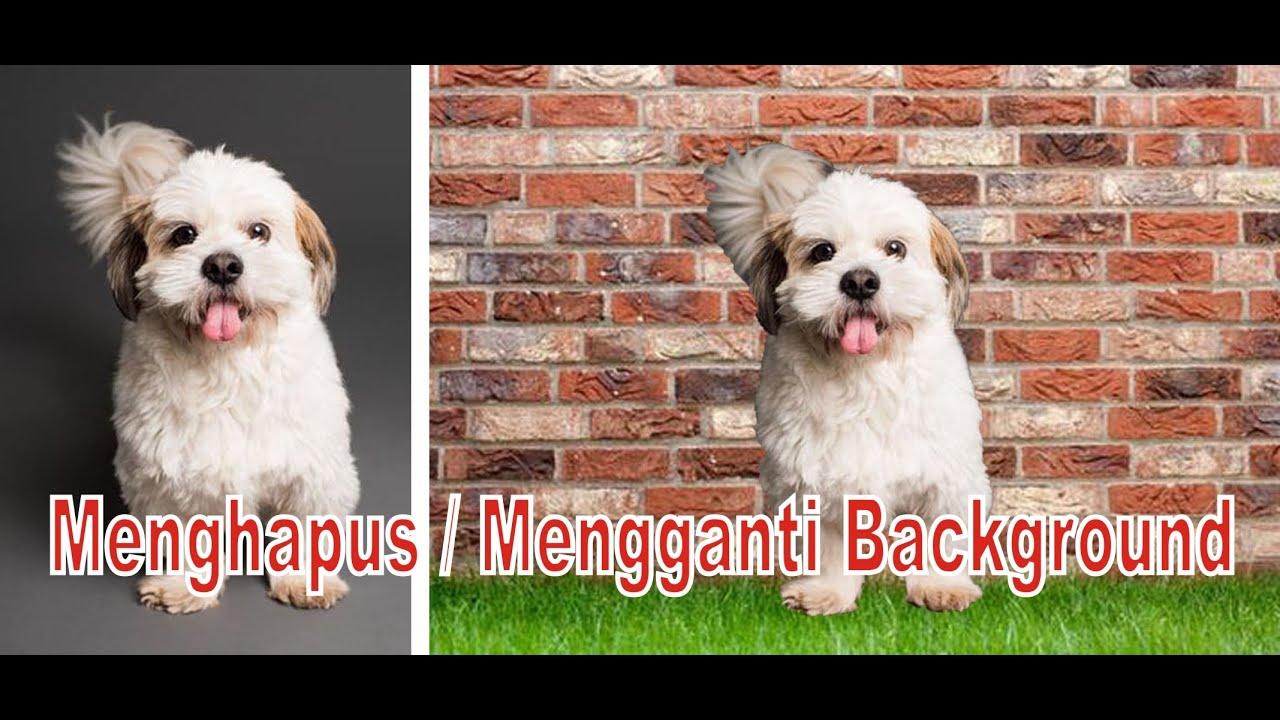 Mengganti Background Di Photoshop - YouTube