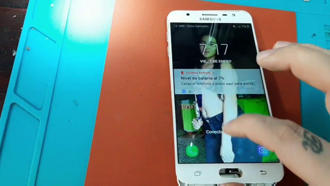 Solucion nunca antes vista tecla retroceso Ejemplo Samsung j7 Prime