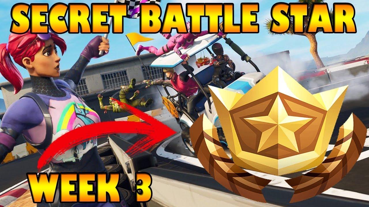 Secret Battle Star Location Week 3 Season 5 Fortnite Road Trip