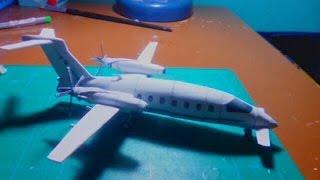 Piaggio Aero P180 M Avanti Papercraft