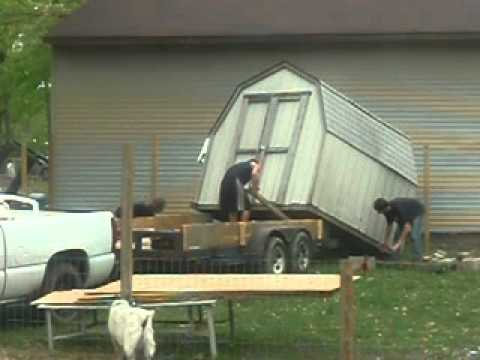 How To Unload A Shed Hillbilly Style