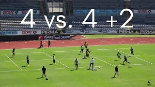 Small Sided Game: 4 vs. 4 +2