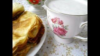 Блины на кефире 😉 Воздушный кефир из козьего молока ☕ Кухонные заморочки 😊