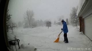 USA КИНО 1159. Зима и снегопады в Мичигане. Уборка снега в таймлепс