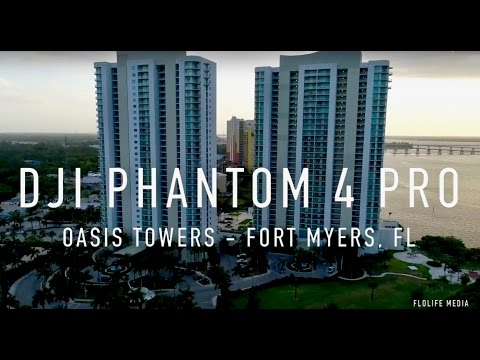 Fort Myers Oasis Condo Towers - Phantom 4 Pro 4K Aerial View