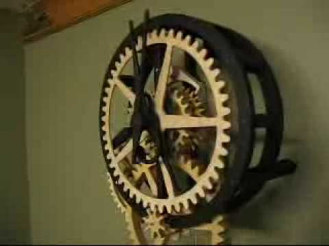Dave's Wooden Gear Clock - YouTube