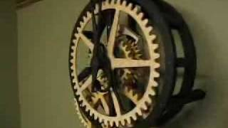 Dave's Wooden Gear Clock