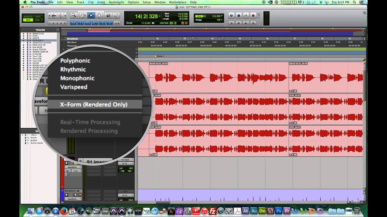 Pro Tools 11 - #22 - Elastic Pitch pt 1 - Pitch Shift with Polyphonic and  X-Form