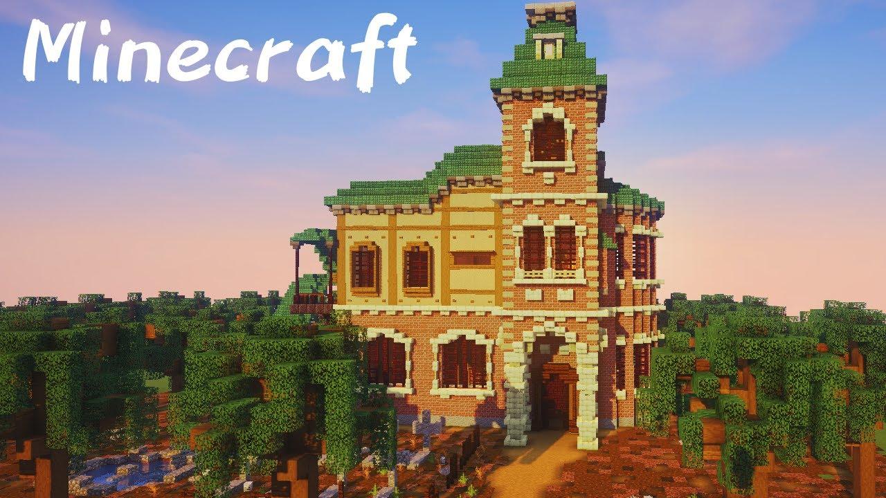 【ハロウィン】おばけ達が住む洋館を建築してみた【マイクラ・Minecraft】