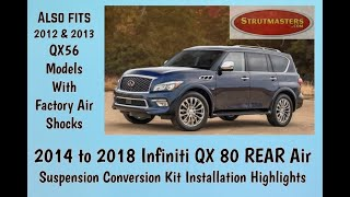 How To Repair The Rear Suspension On A 2013 And Beyond Infinity QX80