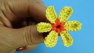 Очаровательный малыш   Вязаные цветы Урок 94 Crochet flower pattern