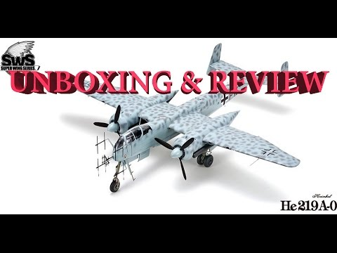 Zoukei-Mura Heinkel He-219A-0 Uhu 1/32  SWS 6 Review & Unboxing