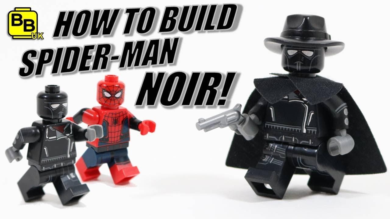 NEW LEGO Marvel Super Heroes Spider-Man Noir minifigure