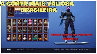 FORTNITE-SHOWING MY ACCOUNT on FORTNITE (part 1): the MOST VALUABLE BRAZILIAN ACCOUNT 💎💰🥇