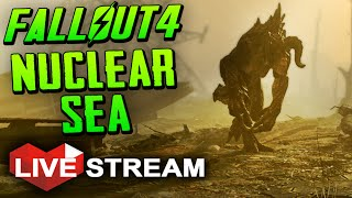 |Fallout 4 Gameplay Exploration| The Glowing Sea!! (Nuke Craters) Live Stream