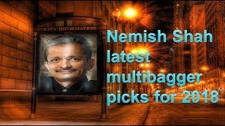 Nemish Shah latest multibagger picks for 2018
