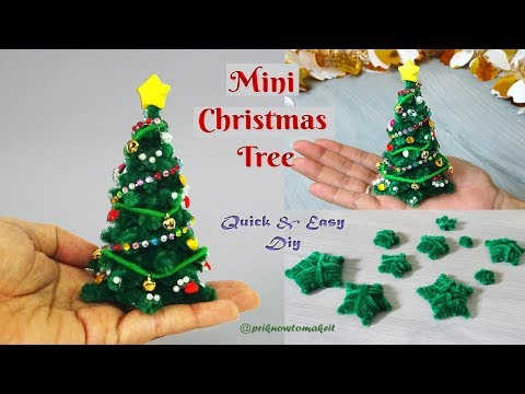 how to make Christmas Tree🎄 DIY craft out of craft pipe cleaner