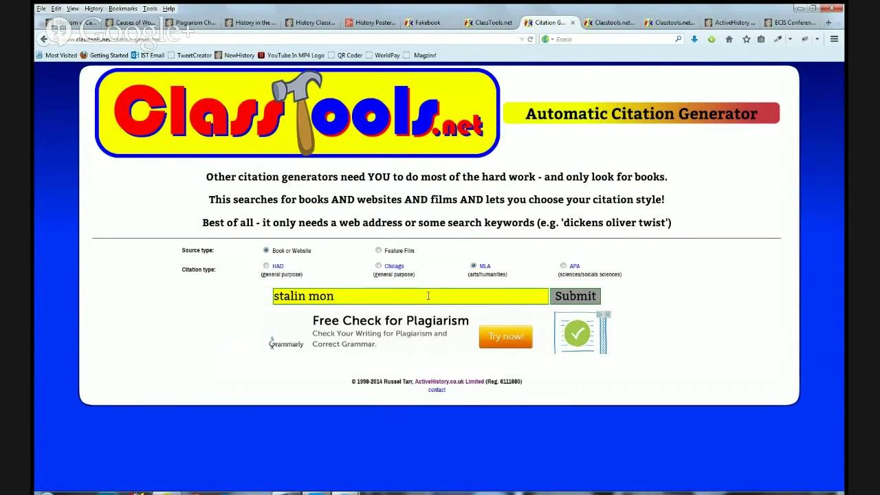 apa web reference generator