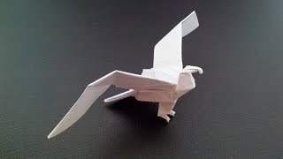 Красивый орел оригами, Beautiful eagle origami
