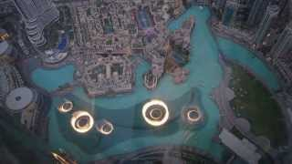 Dubai Mall Fountain Show from the Top- Full HD