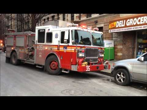 "FDNY FIGHTING A ""ALL HANDS"" FIRE ON W. 141 ST. THE HARLEM AREA OF MANHATTAN IN NEW YORK CITY."