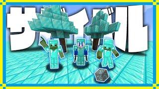 全てのブロックがダイヤモンドで出来てる世界でサバイバル生活!ダイヤ生活クラフトPart1【マインクラフト】