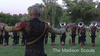 Madison Scouts hornline warmup in Allentown
