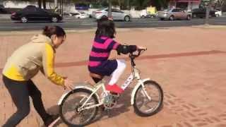 서윤이 첫 두발자전거 타기