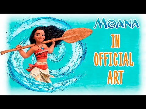 Moana in official art