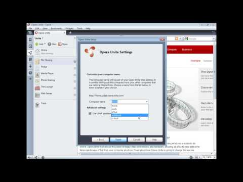How To Use Opera Unite [Official HD]