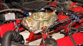 Holley Carb: Setting Idle Setting & Initial Ignition Timing (CARB BASICS PART:1)