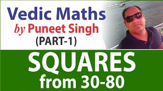 Gambar cover Vedic Maths : Squares from 30 to 80 | R&A | by Puneet Singh | MADE EASY Faculty